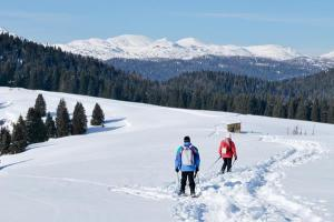 With the snowshoes on the Asiago Plateau (ph: Roberto Costa Ebech).