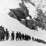 During a military exercise on the Gran Paradiso in 1939.