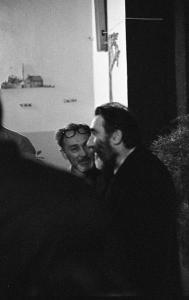 With his friend Primo Levi, in May 1977.