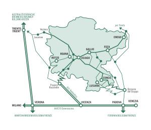 Asiago Plateau map